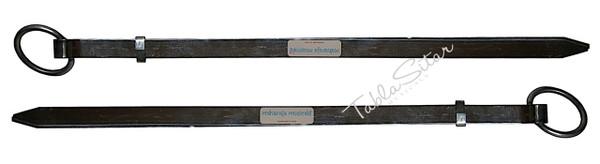 MAHARAJA MUSICALS Professional Steel Plain Chimta/Chimpta Pair, Musical Fire Tongs  - No. 429