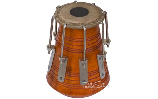 MAHARAJA MUSICALS High Pitch Bengali Tabla Khol/Dayan, Tuned to Upper C - No. 491