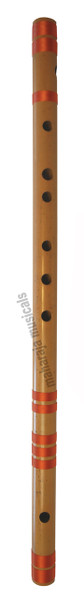 MAHARAJA Concert, Scale A Natural Bass 23.5 Inches, Finest Indian Bansuri, Bamboo Flute, Hindustani - No. 351