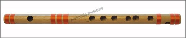 MAHARAJA Concert, Scale A Natural Medium 11 Inches, Finest Indian Bansuri, Bamboo Flute, Hindustani - No. 352