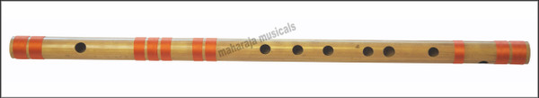 MAHARAJA Concert, Scale A Sharp Bass 21.5 Inches, Finest Indian Bansuri, Bamboo Flute, Hindustani - No. 353