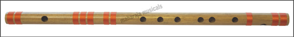 MAHARAJA Concert, Scale B Natural Bass 20 Inches, Finest Indian Bansuri, Bamboo Flute, Hindustani - No. 355