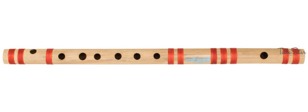MAHARAJA Concert, Scale C Natural Medium 19 Inches, Finest Indian Bansuri, Bamboo Flute, Hindustani - No. 358