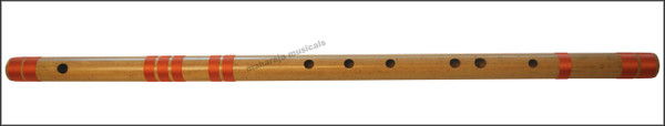 MAHARAJA Concert, Scale D Natural Bass 33.5 Inches, Finest Indian Bansuri, Bamboo Flute, Hindustani - No. 363