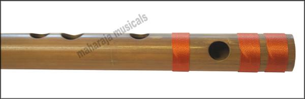 MAHARAJA Concert, Scale D Sharp Medium 16.5 Inches, Finest Indian Bansuri, Bamboo Flute, Hindustani - No. 366