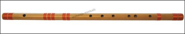 MAHARAJA Concert, Scale E Natural Medium 16 Inches, Finest Indian Bansuri, Bamboo Flute, Hindustani - No. 368
