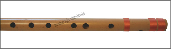 MAHARAJA Concert, Scale F Sharp Bass 26.5 Inches, Finest Indian Bansuri, Bamboo Flute, Hindustani - No. 371