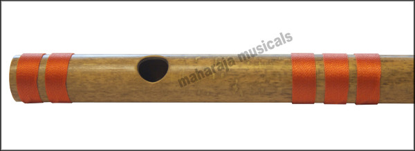 MAHARAJA Concert, Scale F Sharp Medium 13.7 Inches, Finest Indian Bansuri, Bamboo Flute, Hindustani - No. 372