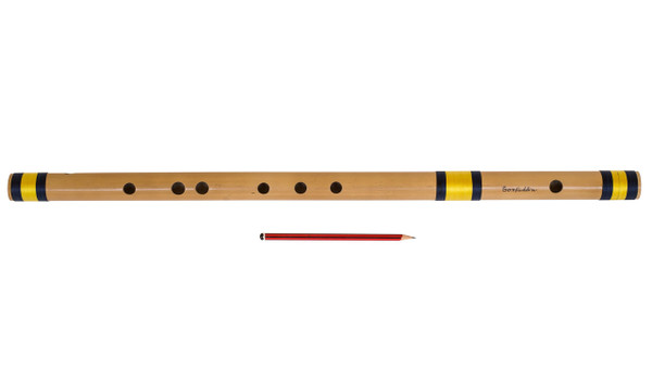 Sarfuddin Flutes Concert, Scale G Natural Bass 25.5 inches, FINEST Indian Bansuri, Bamboo Flute, Hindustani - No. 473