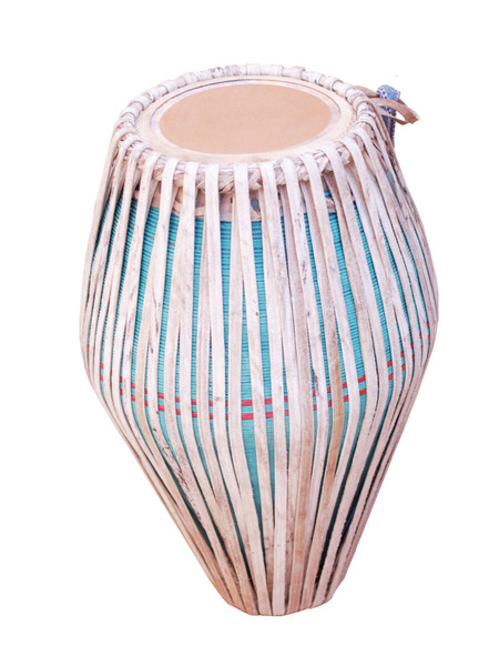 MAHARAJA MUSICALS Mridangam, Strap-tuned, Traditional, Clay, South Indian Drum - No. 666