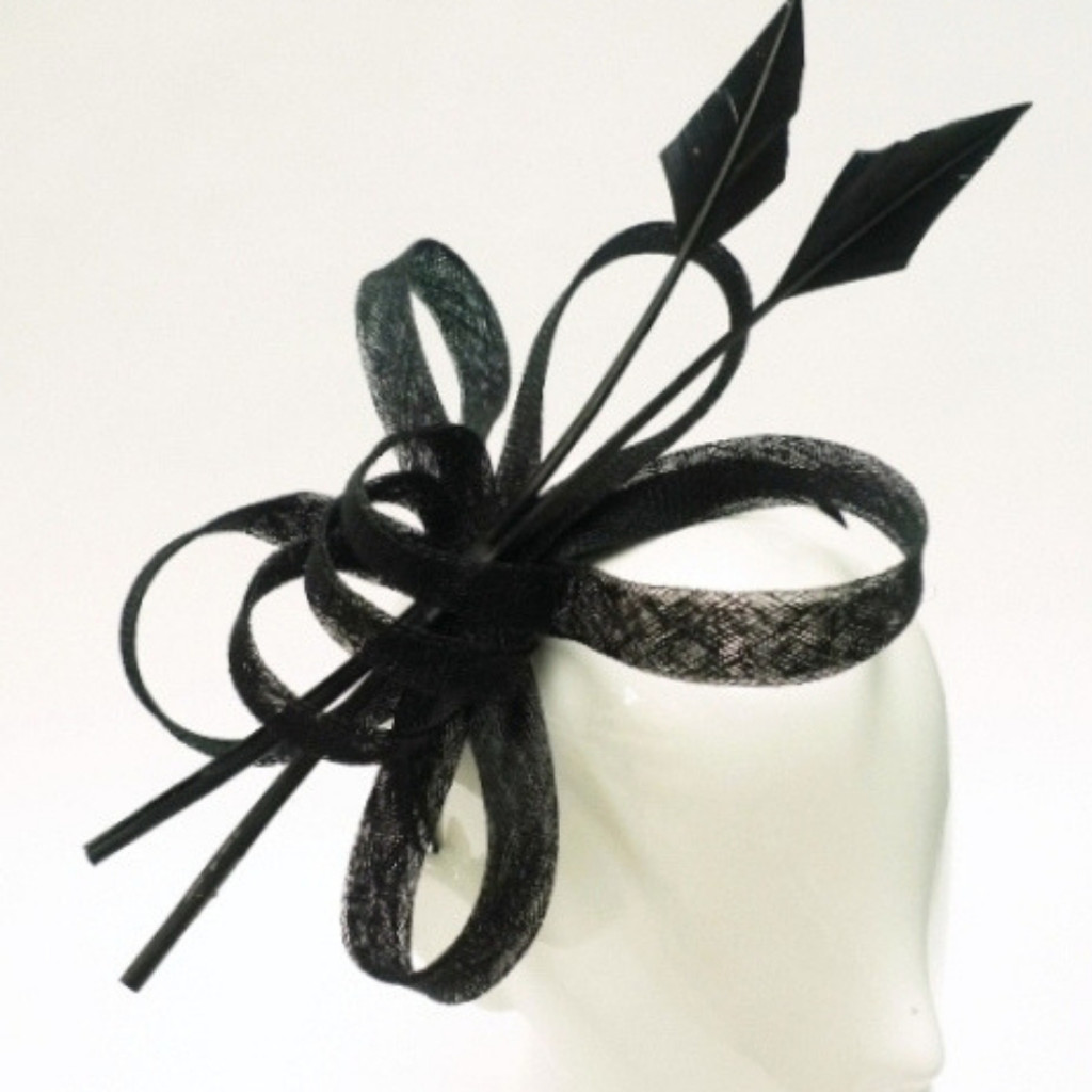 Women's Fascinators | FH2300 - Black Arrow Fascinator | FAB