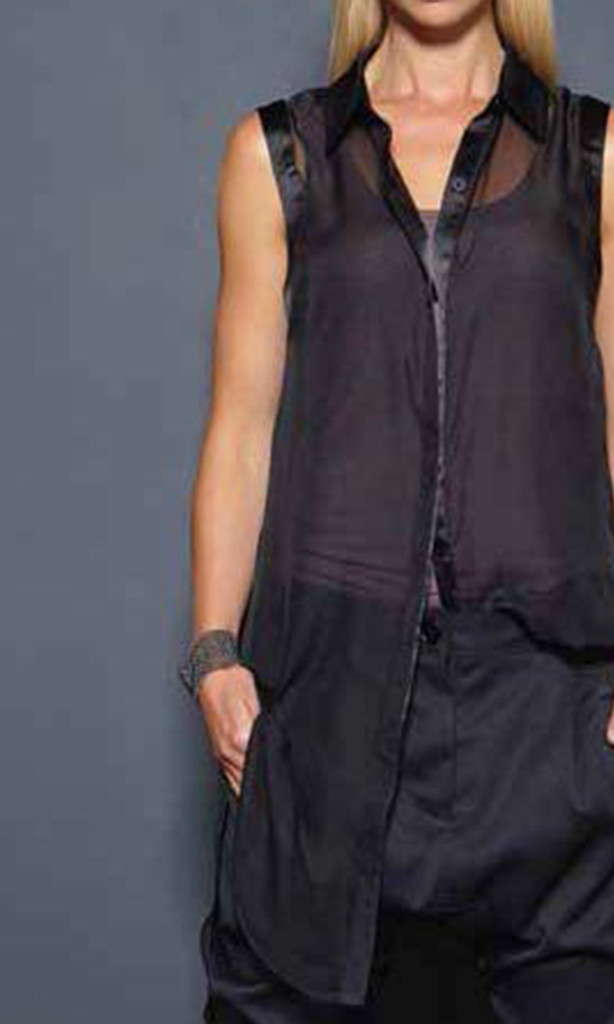 1ff81991385632 C1021 Button Down Shirt (Black) by Carbon 12 | Women's Tops Online ...