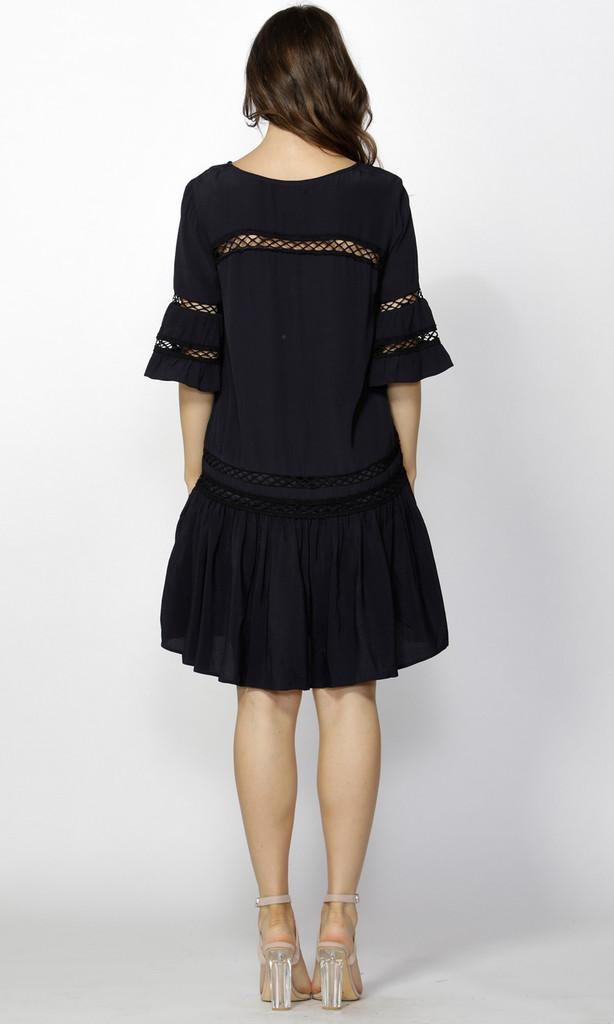 Women's Dresses   Kira Lattice Detail Dress   FATE + BECKER