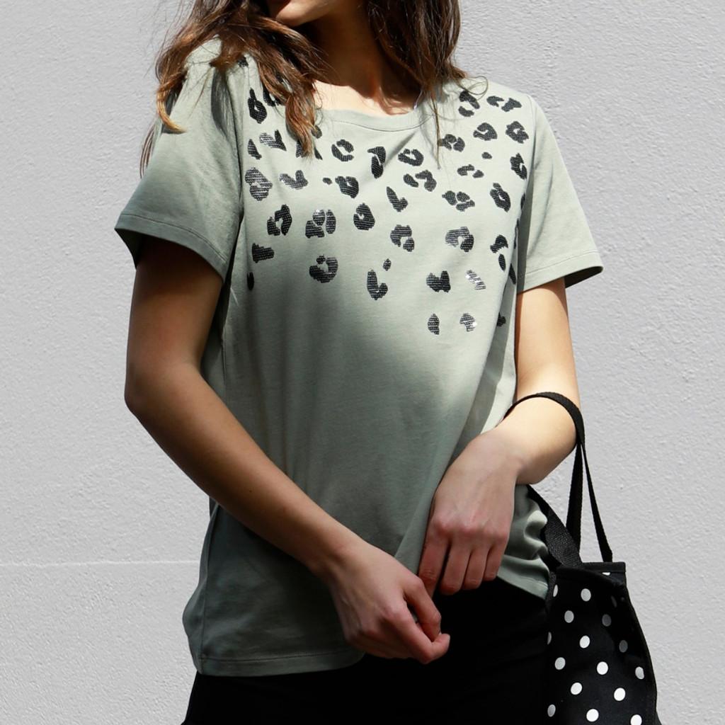 Women's Tops Online | Sequin Cara Tee | BETTY BASIC