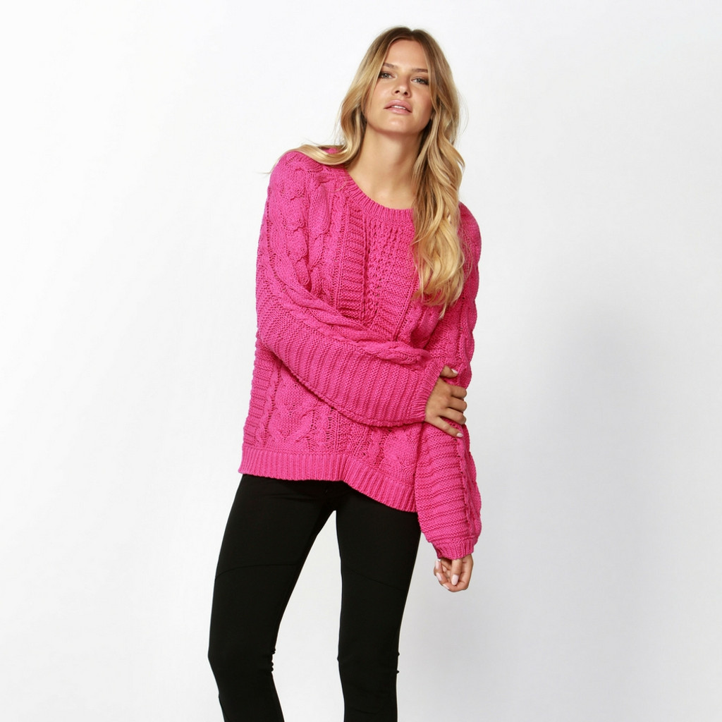 Women's Knits Australia | Off Duty Cable Knit |  SASS
