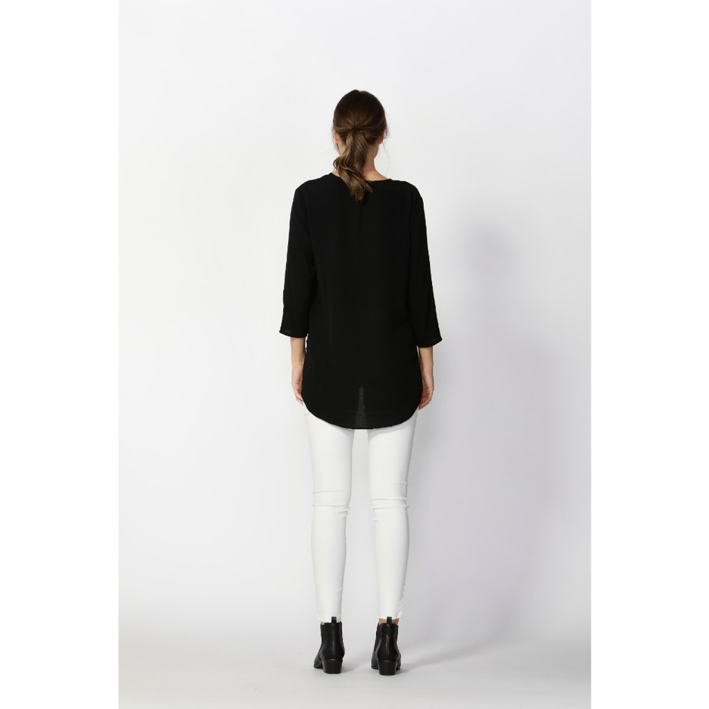 Ladies Tops | Flora Button Detail Blouse | FATE + BECKER