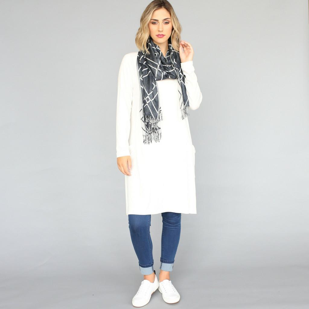 Ladies Tops Online | Long Sleeve Dress With Pockets | VIGORELLA