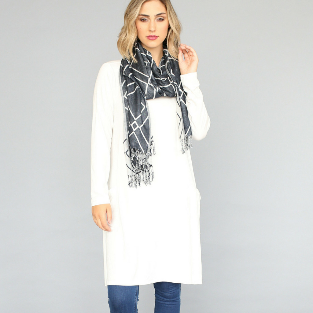 c1f84a40061 Long Sleeve Dress With Pockets by VIGORELLA