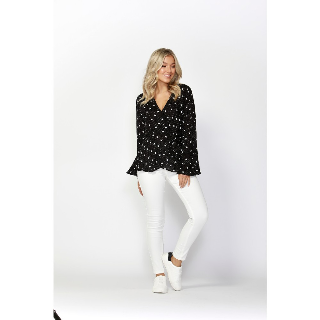 1831a210adad0 Spot On Wrap Blouse by SASS