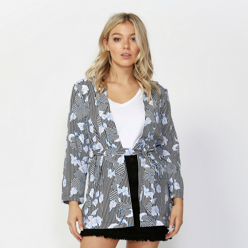 Earn Your Stripes Bed Jacket by SASS*