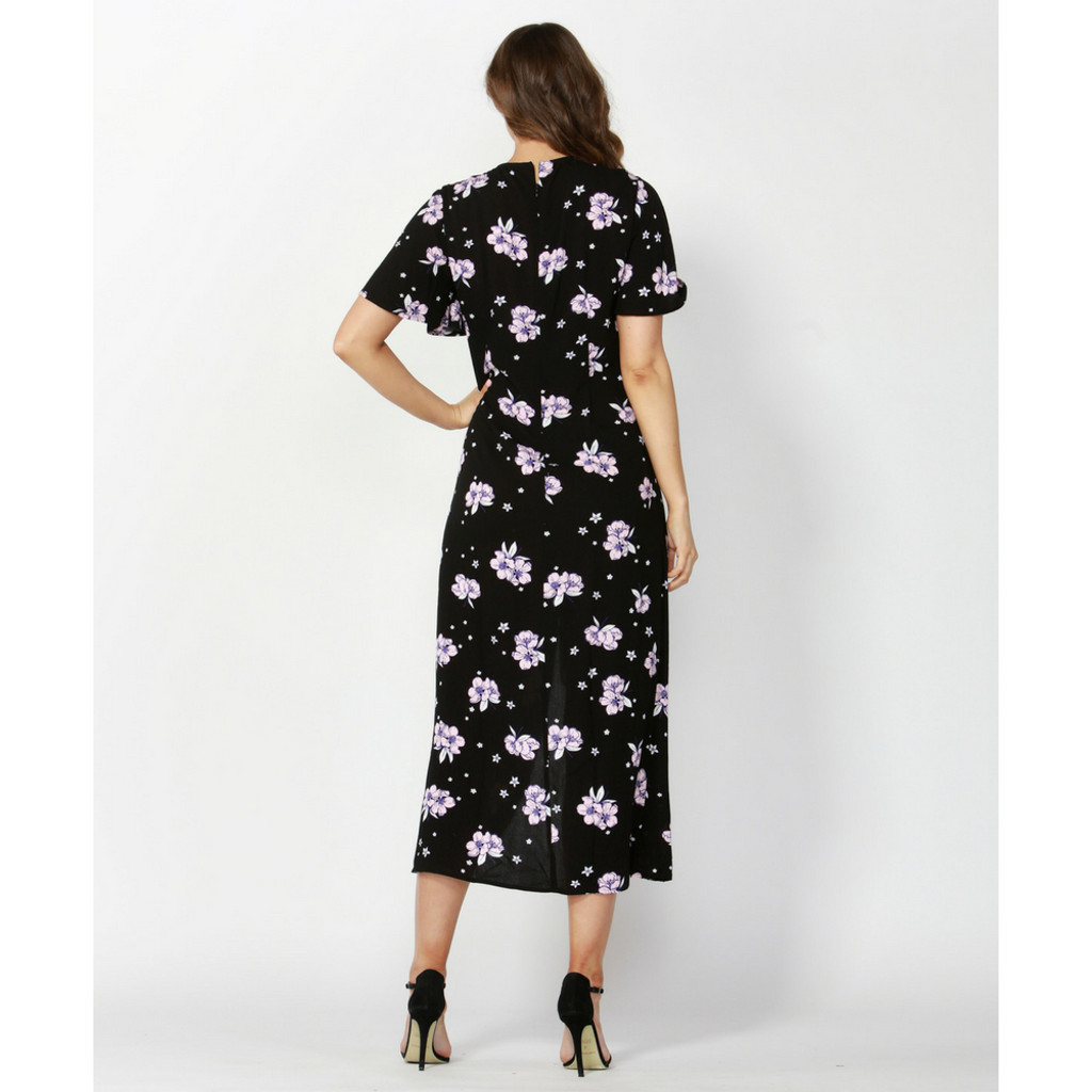 Ladies Dresses In Australia | Floral Bouquet Rouched Dress | SASS