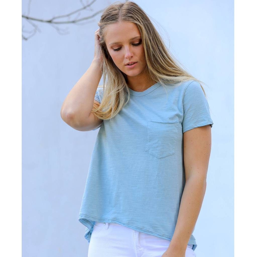 Women's Tops | Dalesford S/S Tee in Mint Blue | 3RD STORY
