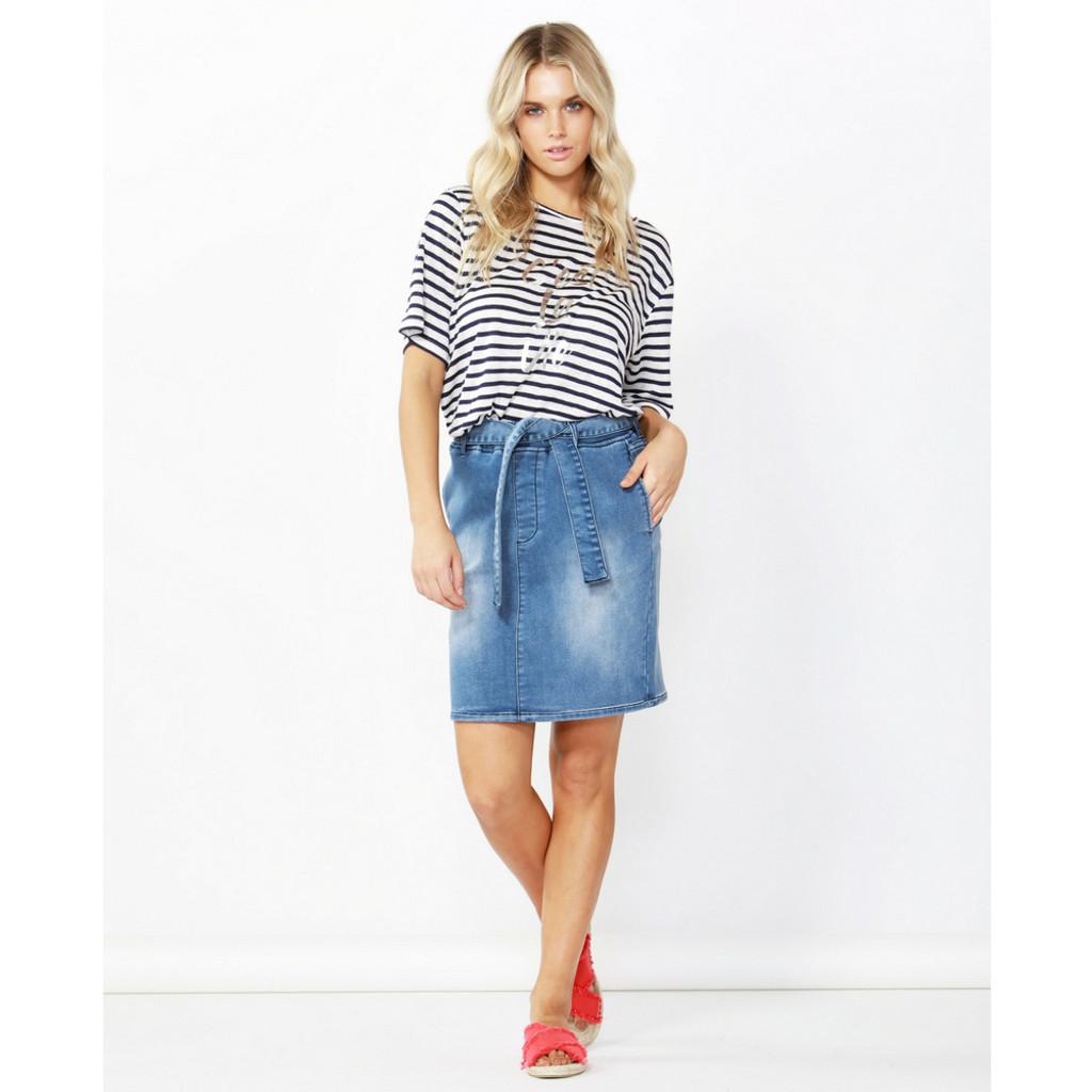 6754e7567f Archer Stretch Denim Skirt by BETTY BASICS | Women's Skirts Online ...