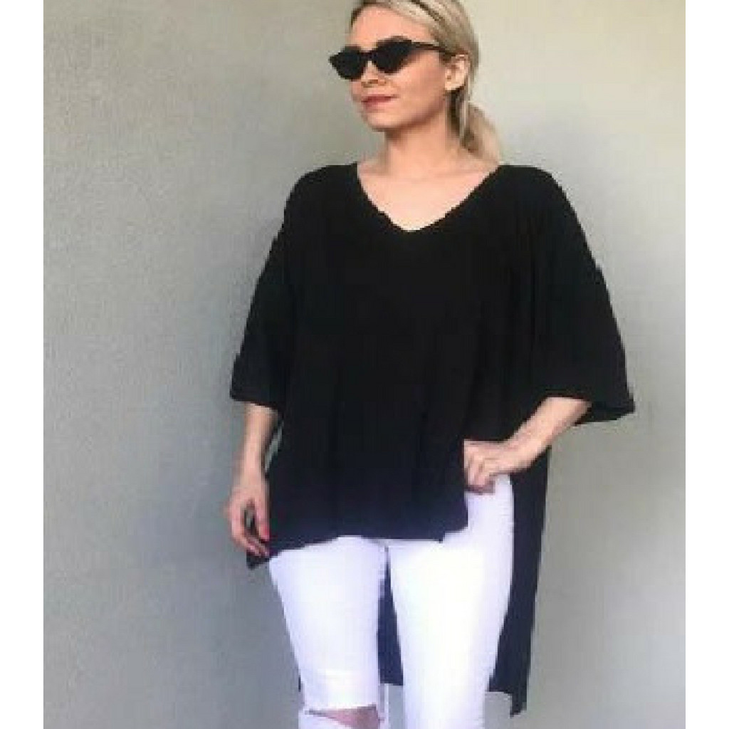 KL426 Top in Black by KIIK LUXE*