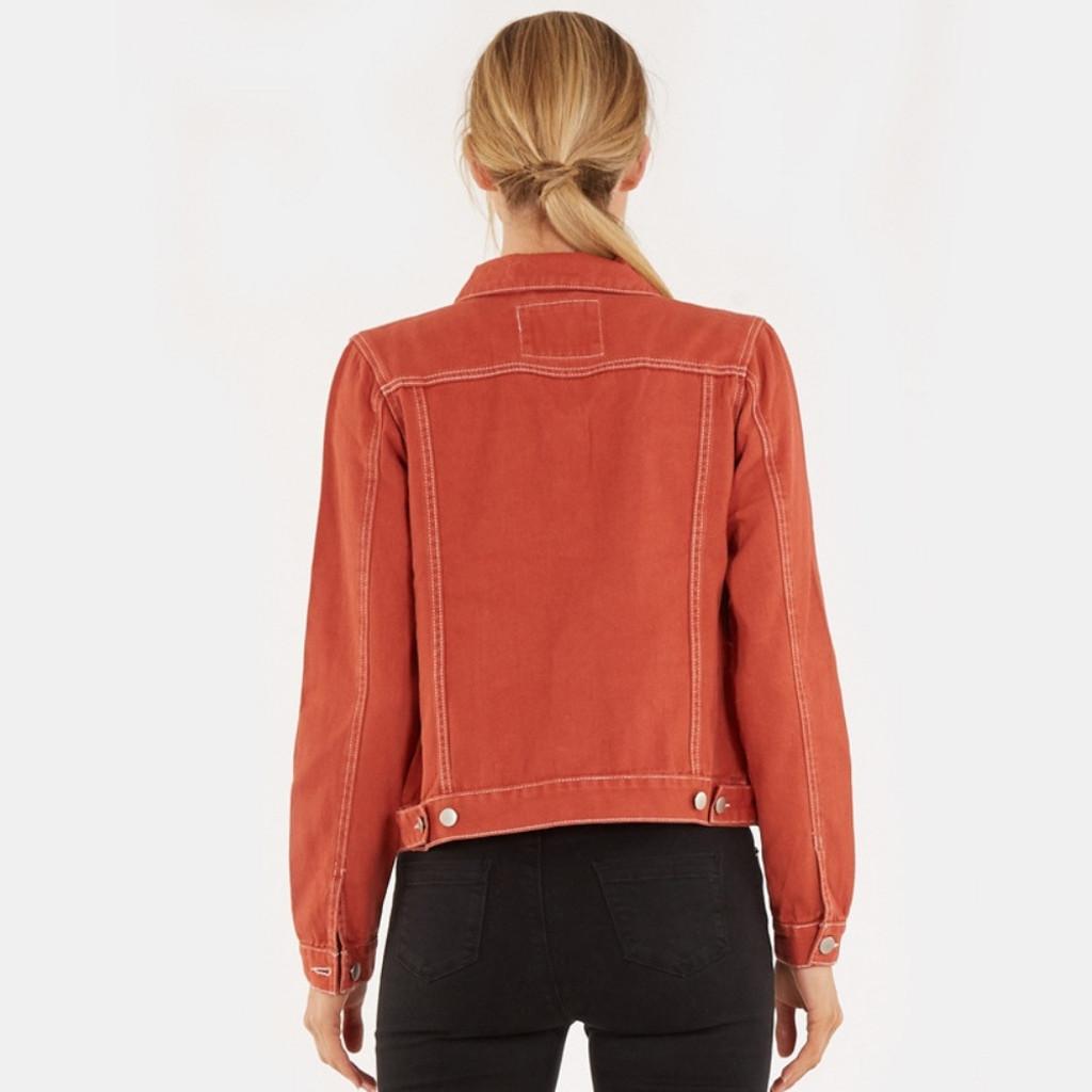 Jackets For Women | Vintage Denim Jacket in Rust | AMELIUS