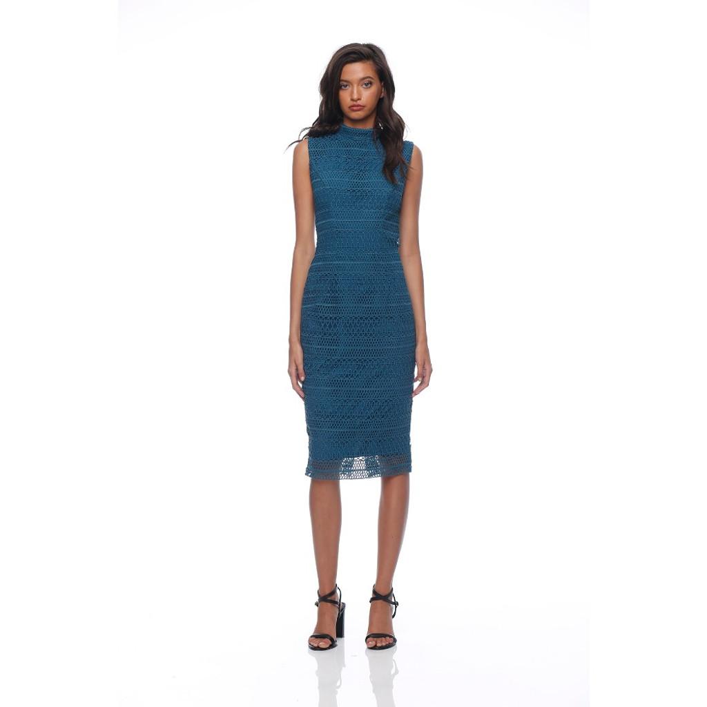 Women's Dresses | Salina Dress in Teal | HONEY & BEAU