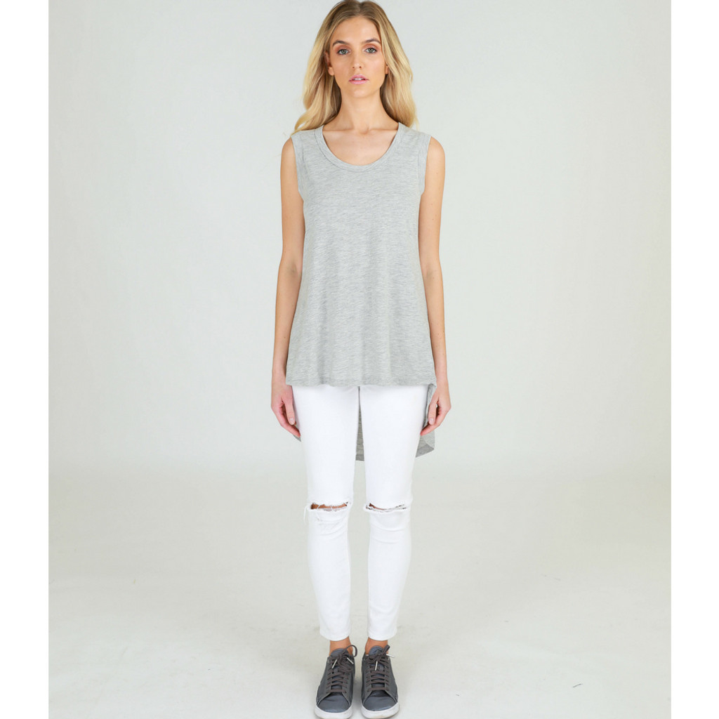 13cac1b0c479 Madison Tank in Grey Marle by 3RD STORY | Women's Tops Australia ...