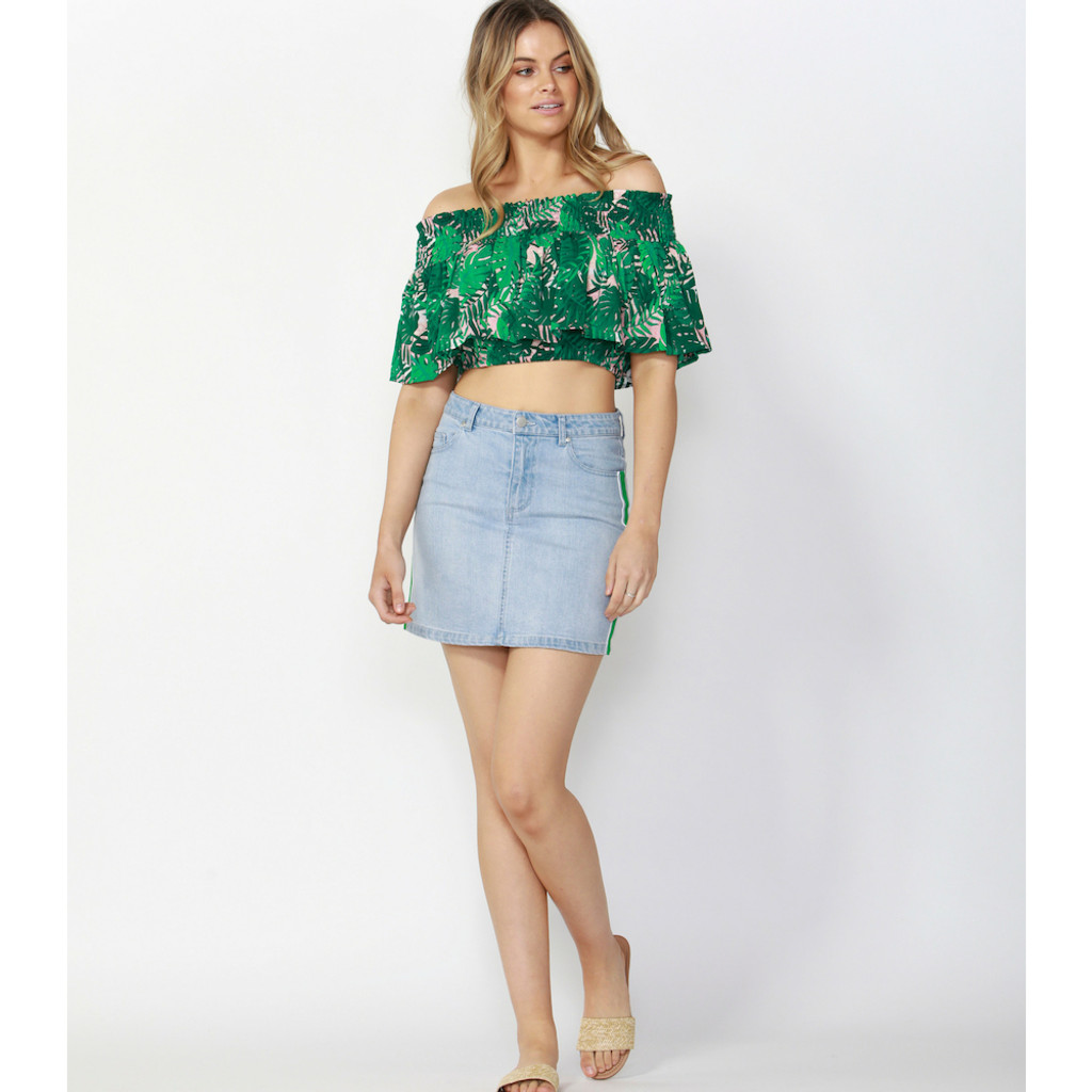 Women's Tops Australia | Tropicana Cropped Blouse | SASS