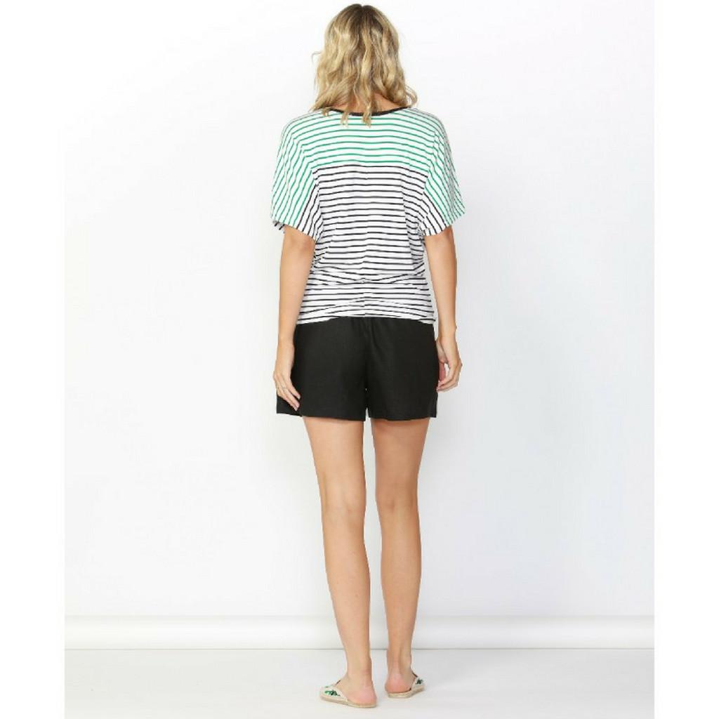 Women's Tops   Maui Tee Paris in Black/White Stripe   BETTY BASICS