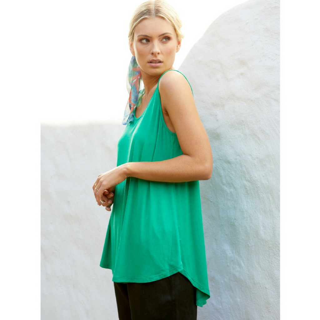 Women's Tops Online Australia | Boston Tank in Emerald  | BETTY BASICS