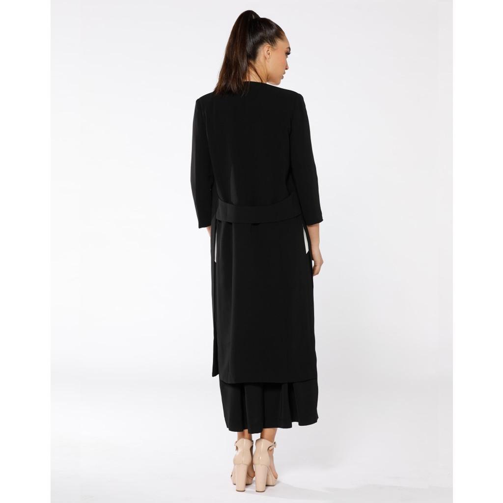 Women's Coats | Notre Dame Noir Coat | PIZZUTO