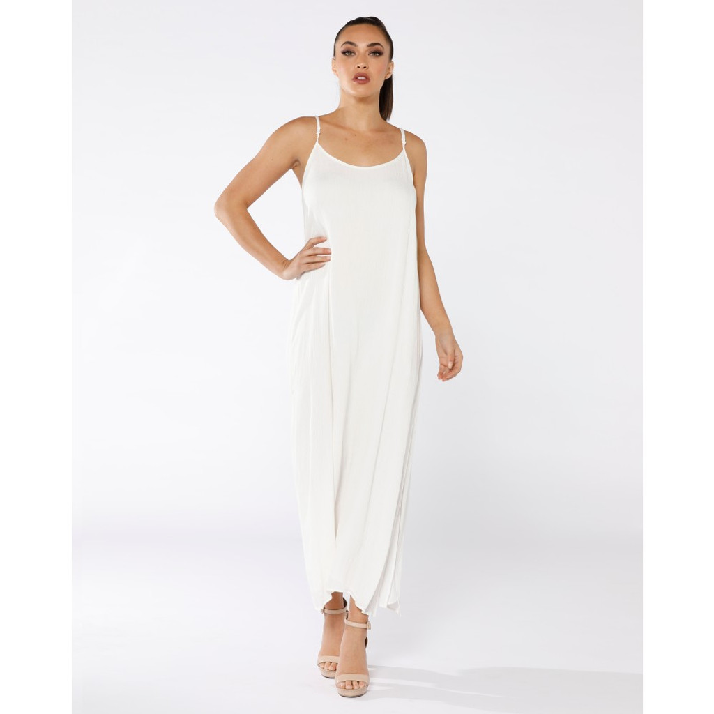 Women's Maxi Dresses | Tantra Silk Trim Maxi | PIZZUTO