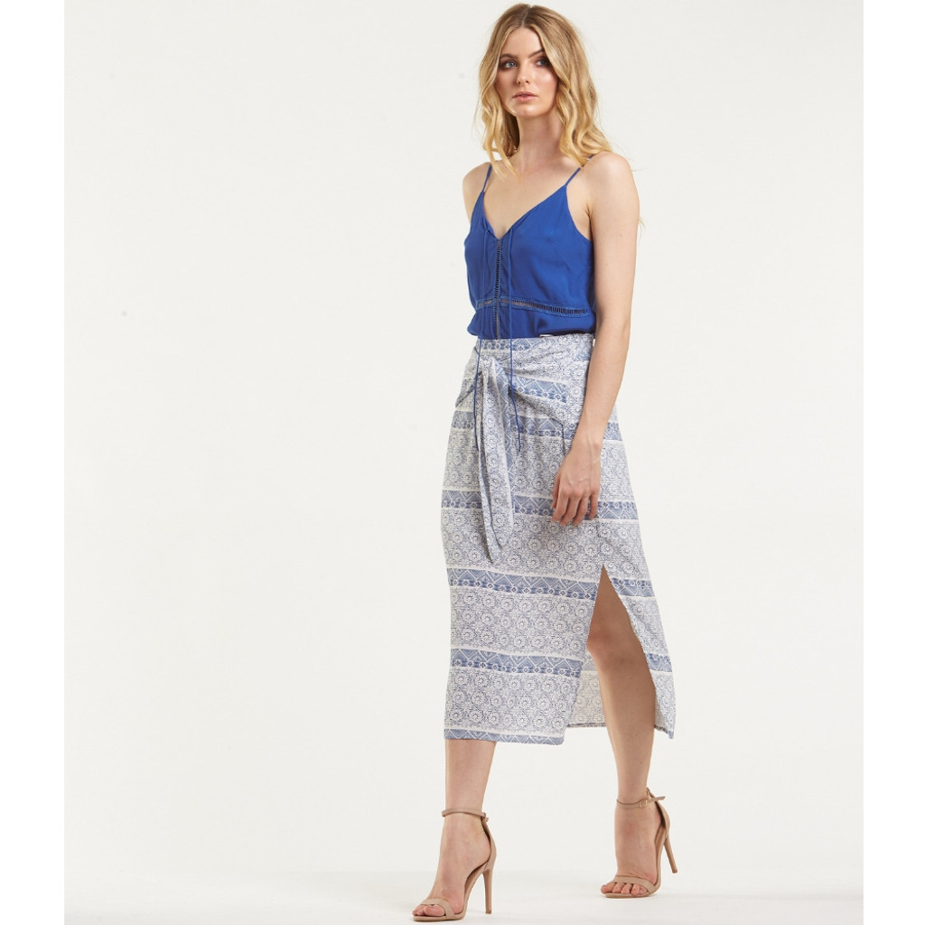 Women's Skirts | Blue Mosiac Skirt | AMELIUS
