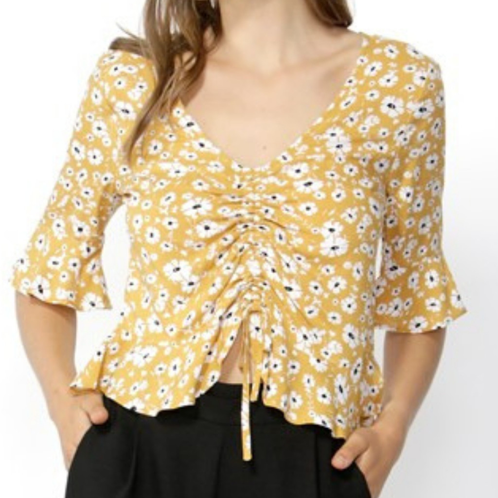 Women's Blouses | Forget Me Not Ruched Blouse | SASS