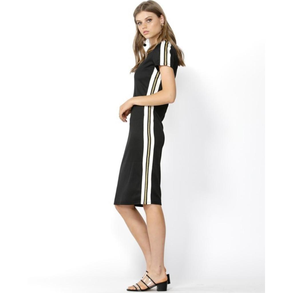 Women's Dresses Online   Chemistry Stripe Bodycon Dress   SASS