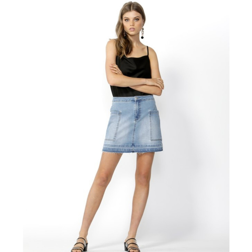 Run Free Denim Mini Skirt By Sass Womens Skirts In Australia