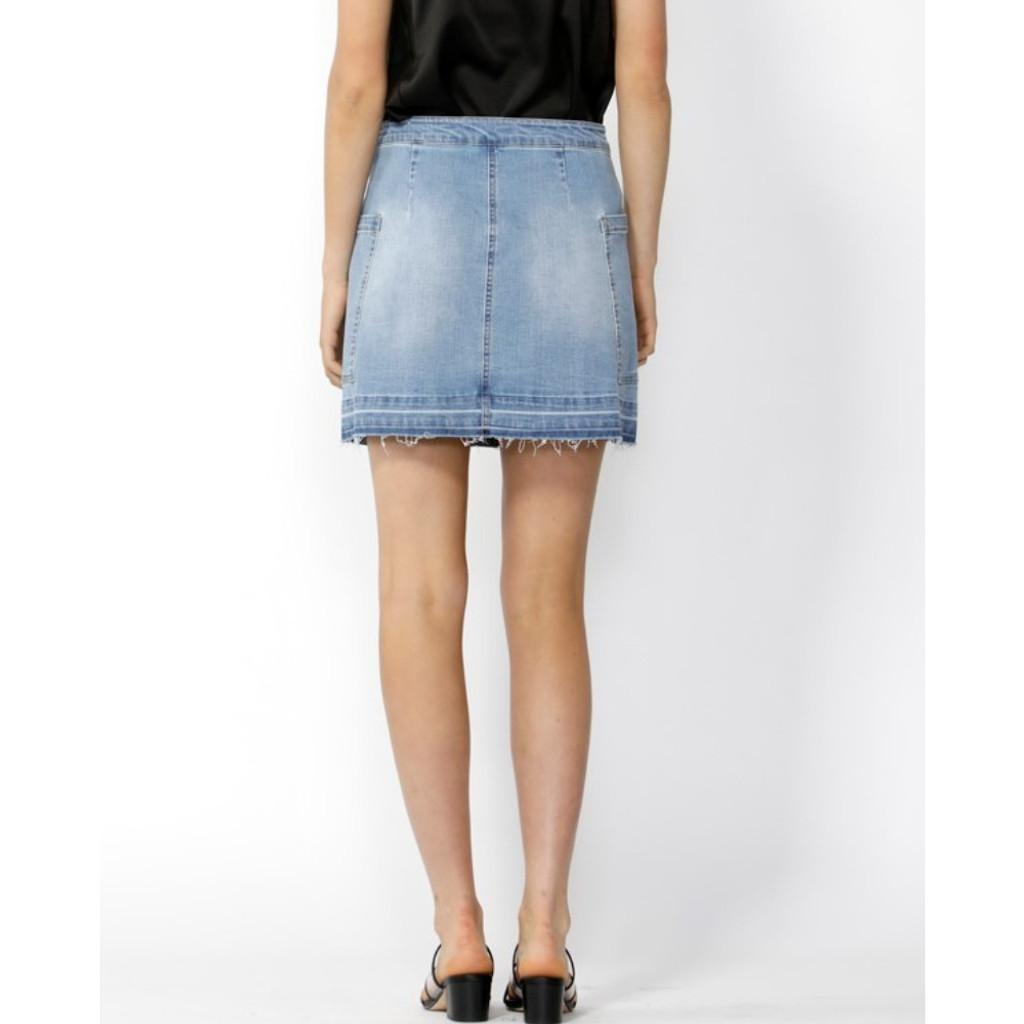 Women's Skirts | Run Free Denim Mini Skirt | SASS