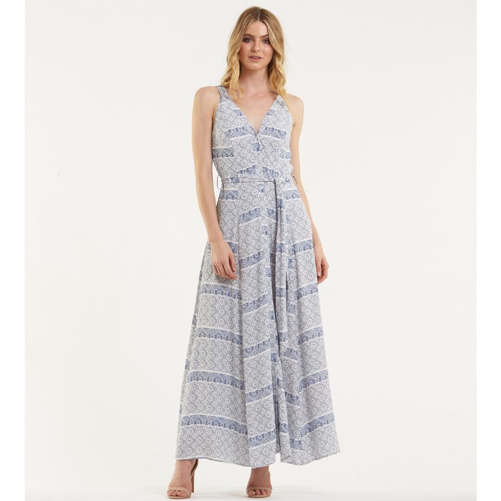 Women's Dresses Online | Blue Mosaic Maxi Dress | AMELIUS