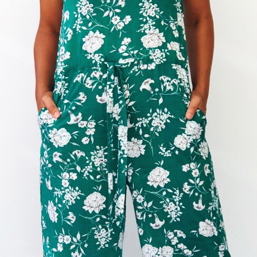 Women's Jumpsuits | Georgia Jumpsuit in Summer Garden Party Print | NOOSA SOL