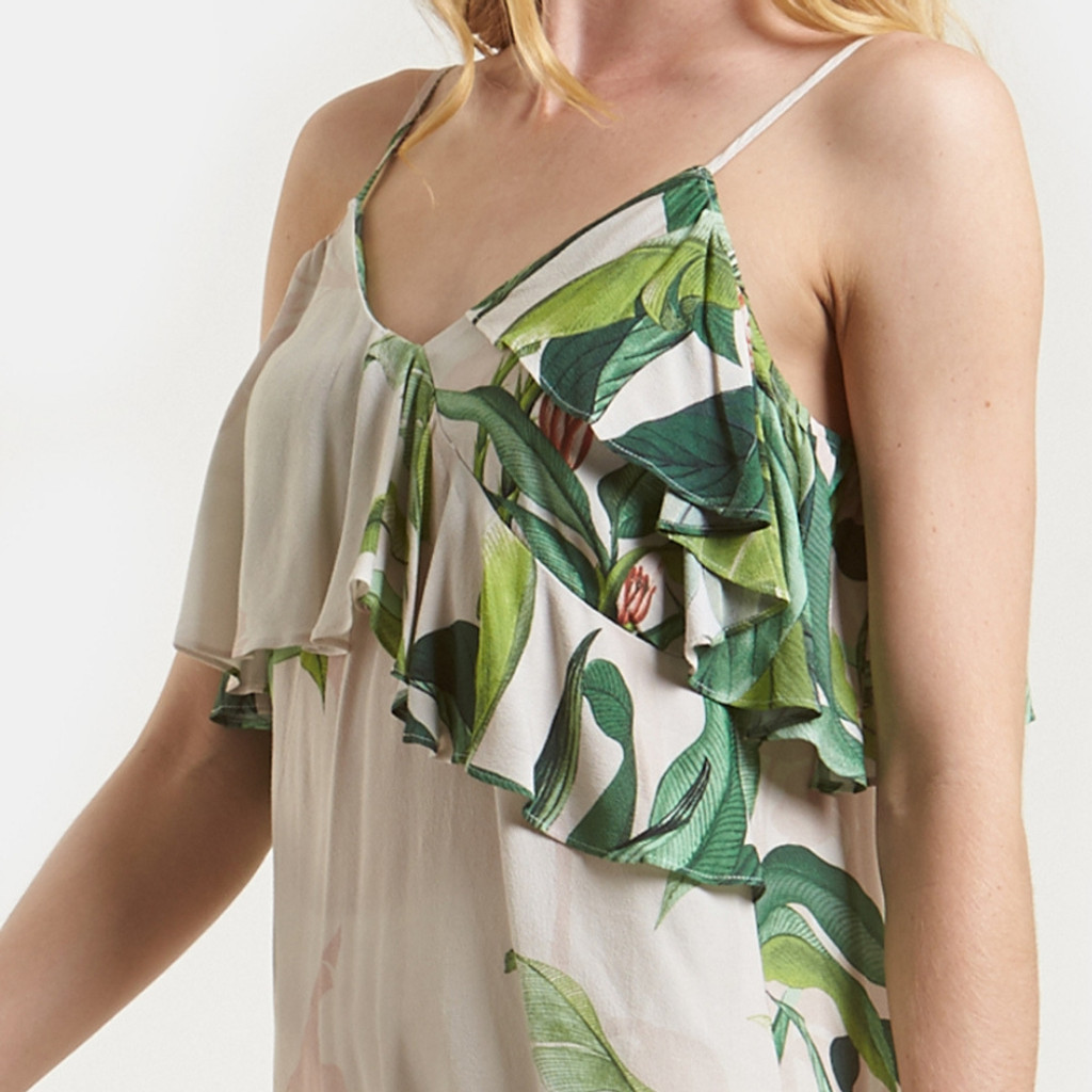Women's Tops Australia | Tropical Palm Print Cami | AMELIUS