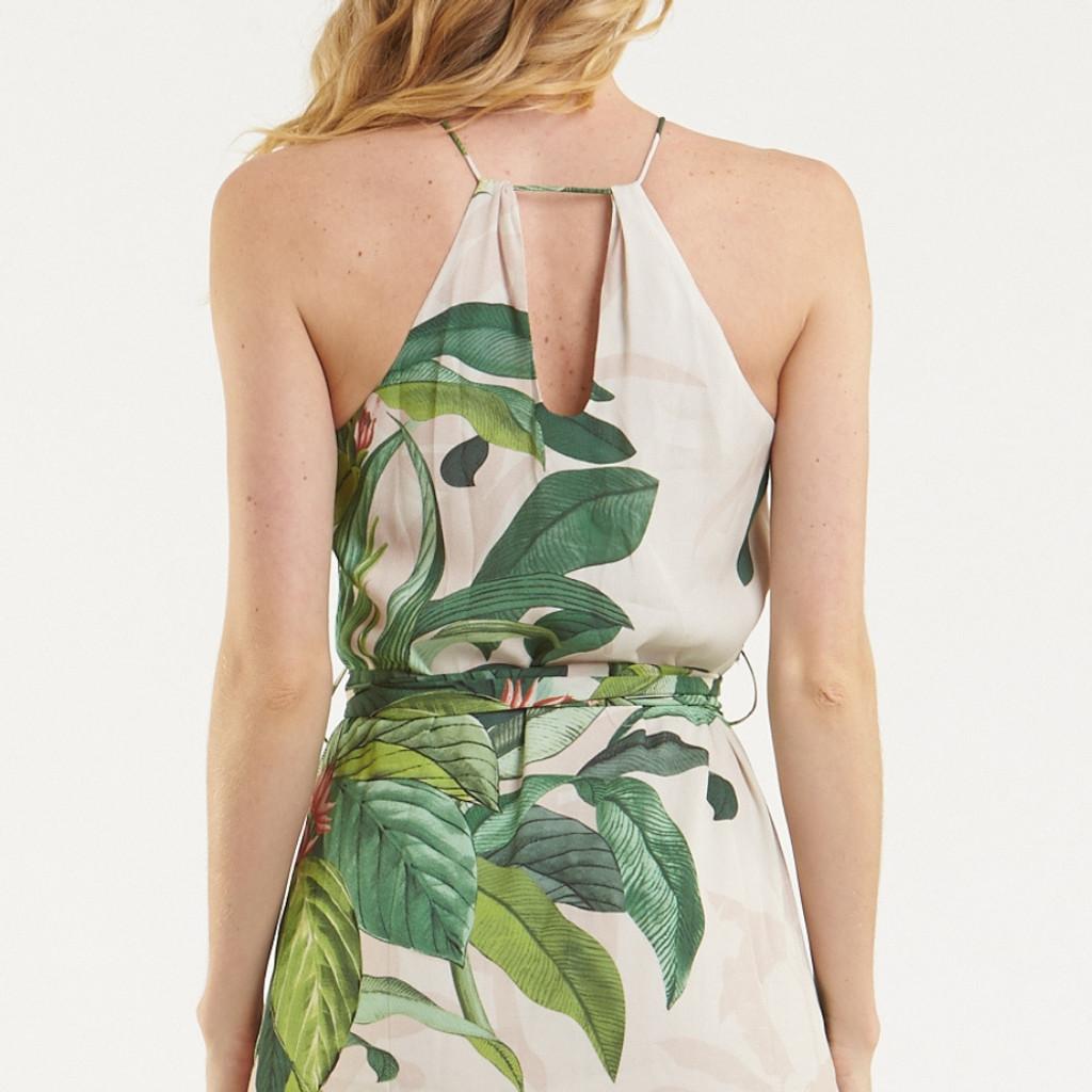 Women's Dresses Online | Tropical Palm Midi Dress | AMELIUS