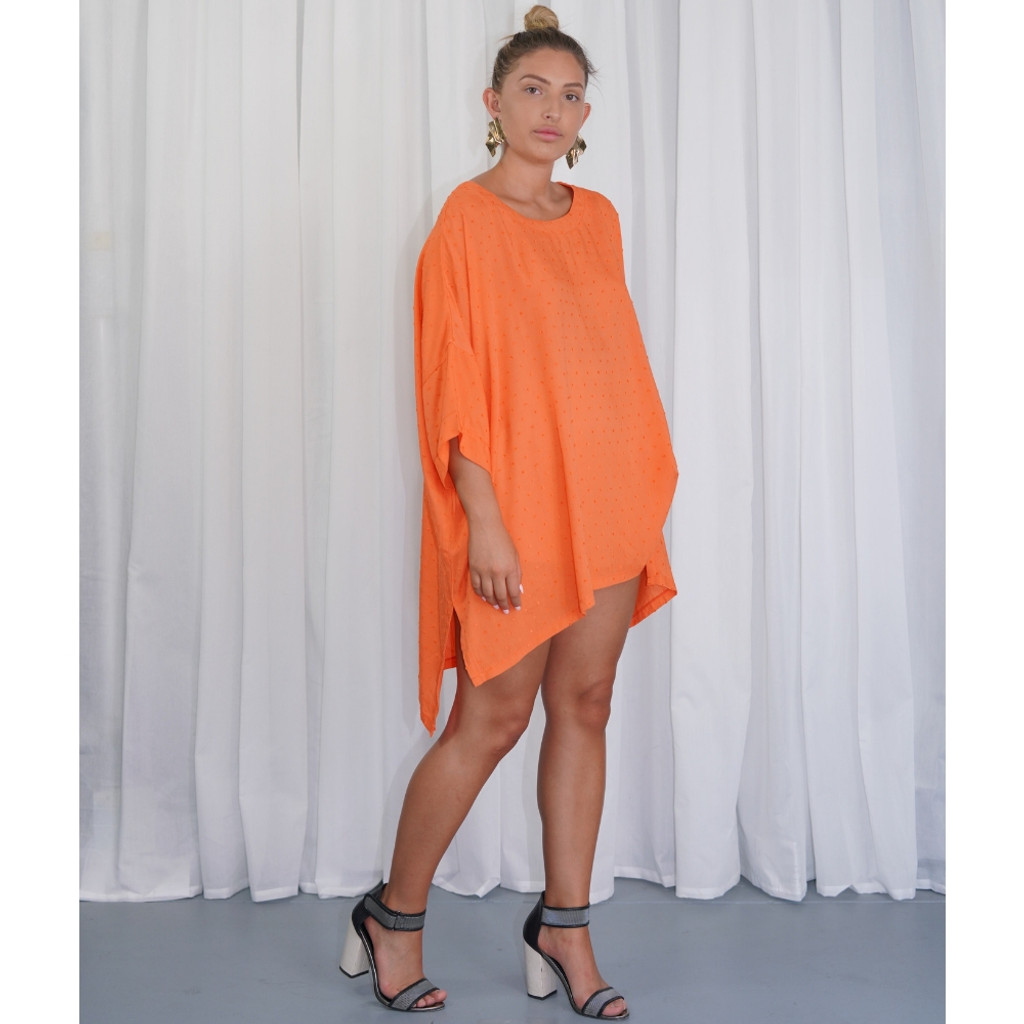 Women's Top Online |  KL447 Top in Orange | KIIK LUXE