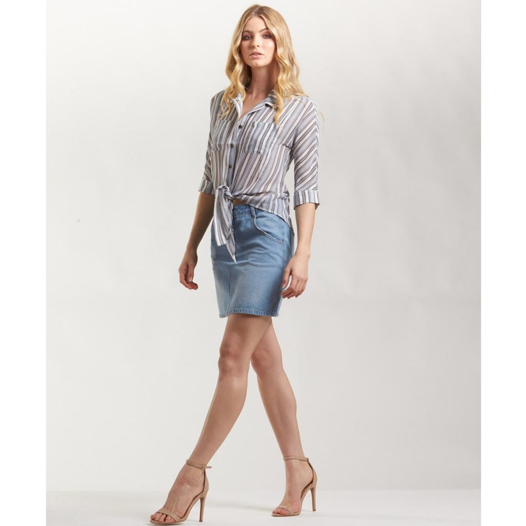 Women's Skirts | Cyrus Denim Skirt | AMELIUS