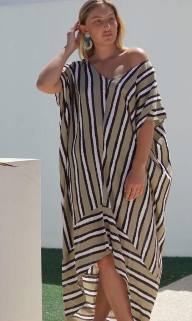 Women's Dresses | KL458 Dress in Khaki | KIIK LUXE