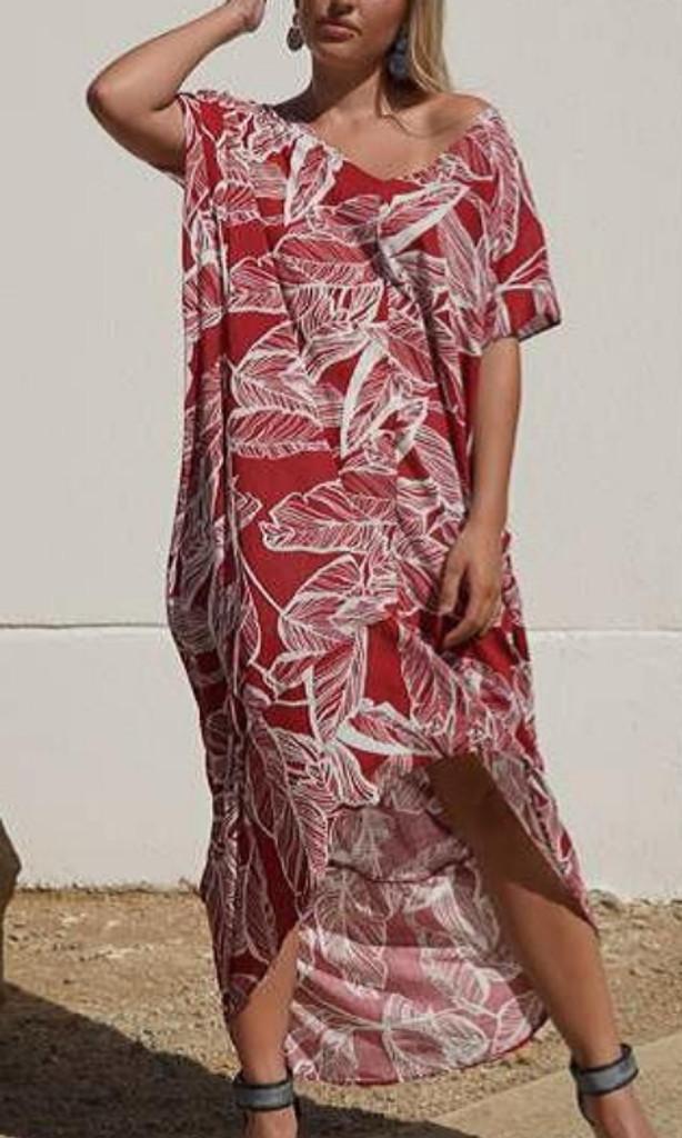 Women's Dresses | KL457 Dress in Burgandy | KIIK LUXE