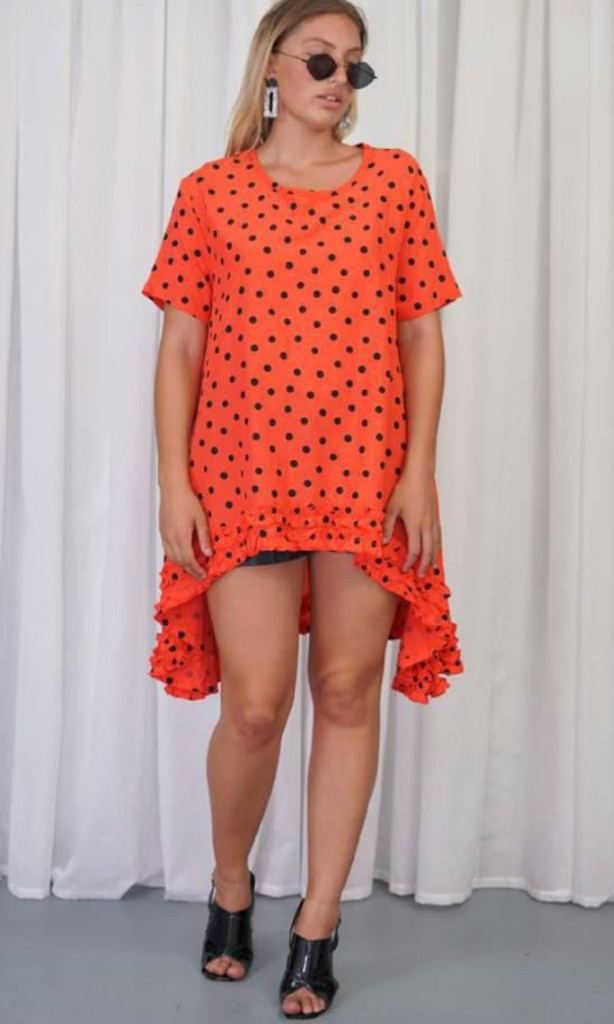 Women's Dresses | KL454 Top in Coral | KIIK LUXE
